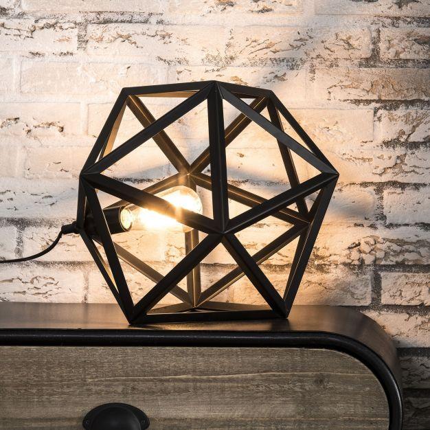 Vico Polygon  - tafellamp - 37 cm - zwart