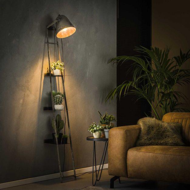 Vico Light Rack - wandschapverlichting - 23 x 35 x 186 cm - oud zilver