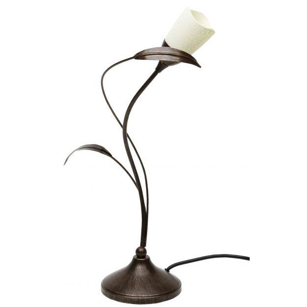 Brilliant Yasmin - tafellamp - 44 cm - 33W halogeen incl. - bruin