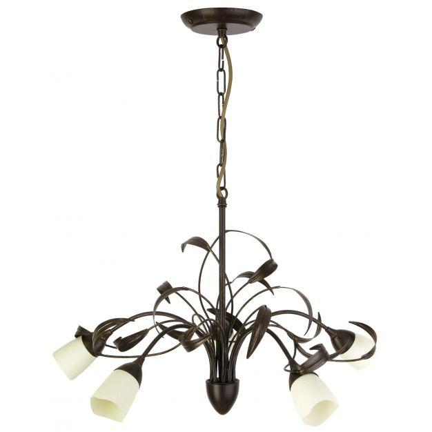 Brilliant Yasmin - hanglamp - Ø 57 x 100 cm - bruin