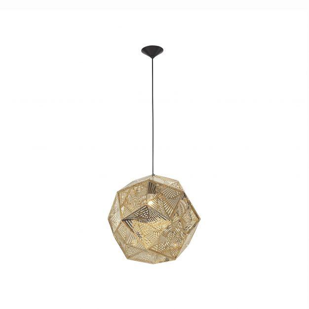 Nova Luce Foggia - hanglamp - Ø 32 x 180 cm - goud
