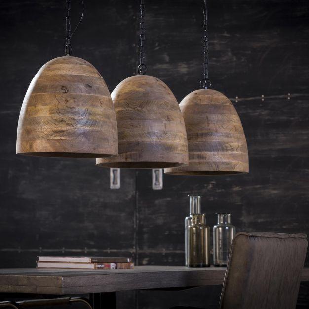 Vico Wood - hanglamp 3L - 114 x 30 x 150 cm - mango hout
