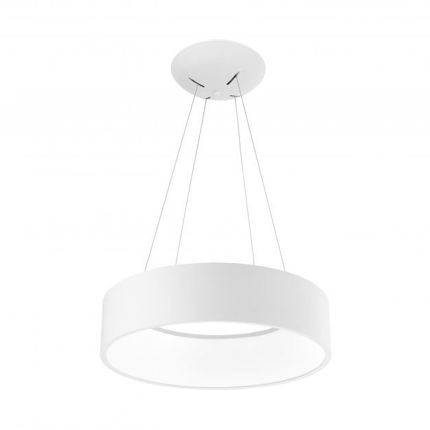 Nova Luce Rando - hanglamp - Ø 45 x 120 cm - 32W dimbare LED incl. - wit