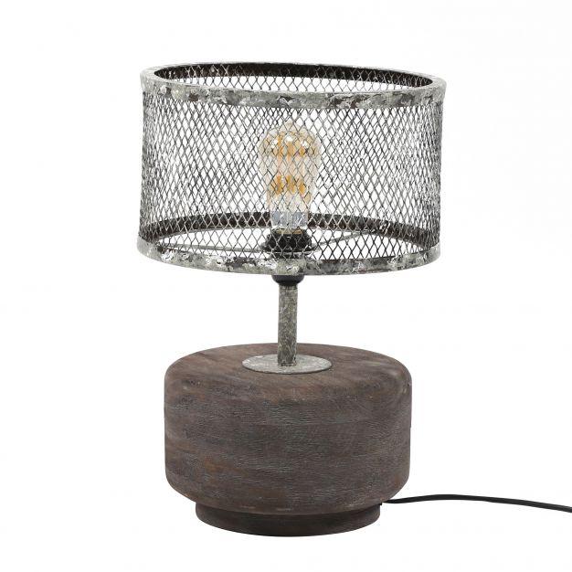 Vico Solid Wood - tafellamp - 45 cm - verweerd metaal