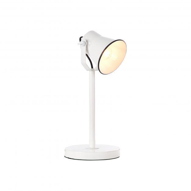 Brilliant Croft - tafellamp -19 x 18 x 41 cm - wit