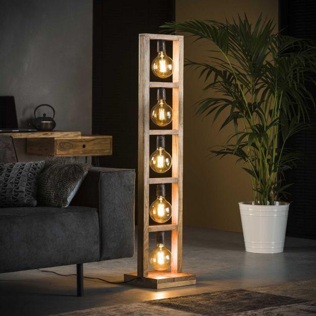 Vico Modulo - vloerlamp - Ø 28 x 135 cm - acaccia hout