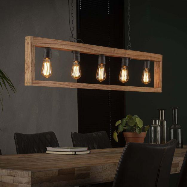 Vico Modulo - hanglamp - 135 x 5 x 150 cm - acaccia hout