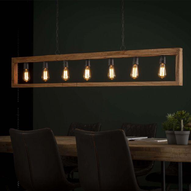 Vico Modulo - hanglamp - 170 x 5 x 150 cm - acaccia hout