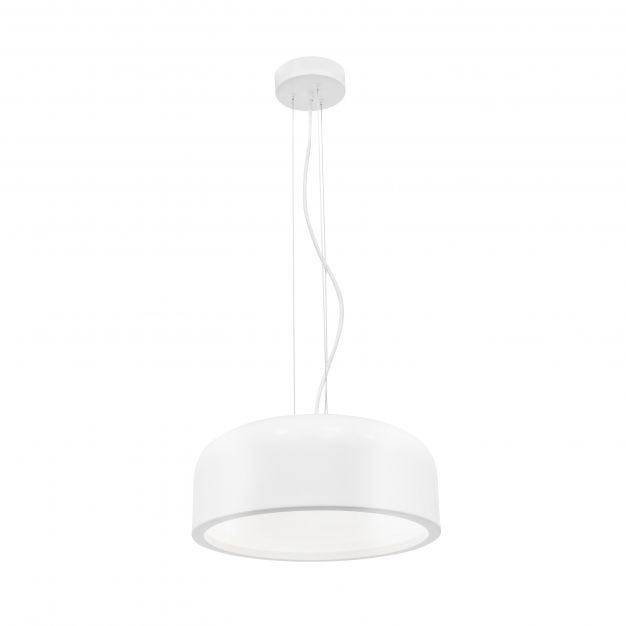 Nova Luce Perleto - hanglamp - Ø 35 x 133 cm - wit