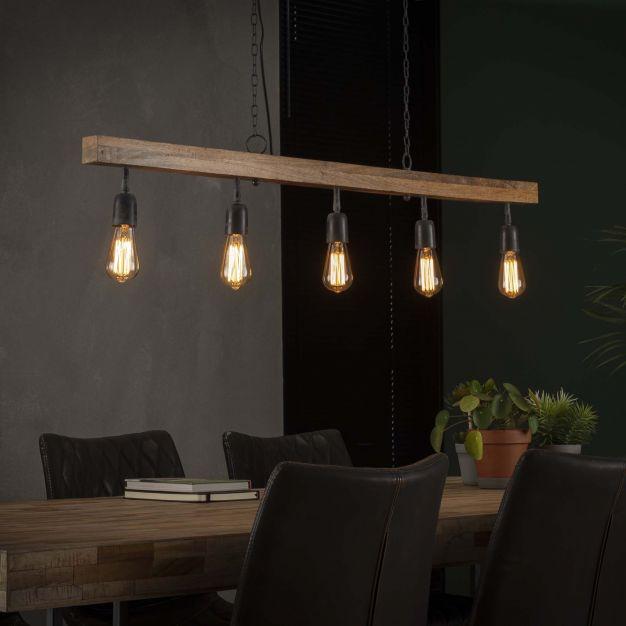 Vico Modulo Frameless - hanglamp - 135 x 5 x 150 cm - mango hout
