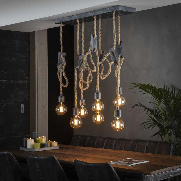 Vico Cord - hanglamp - 87 x 37 x 150 cm - grijs