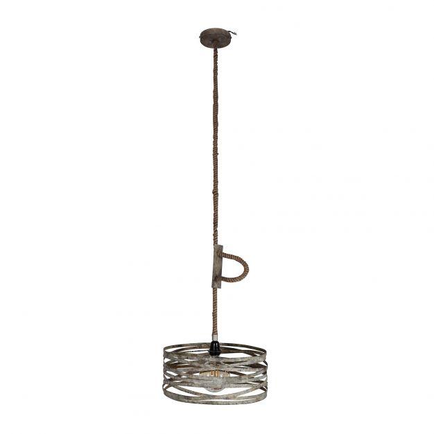 Vico Twist - hanglamp - 40 x 40 x 150 cm - grijs