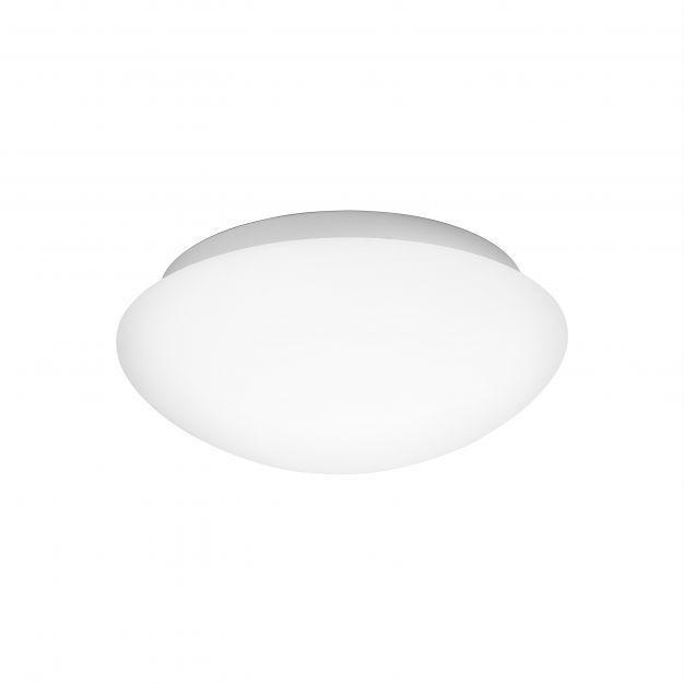 Nova Luce Brest - plafondlamp badkamer - Ø 23 x 10,5 cm - IP44 - wit