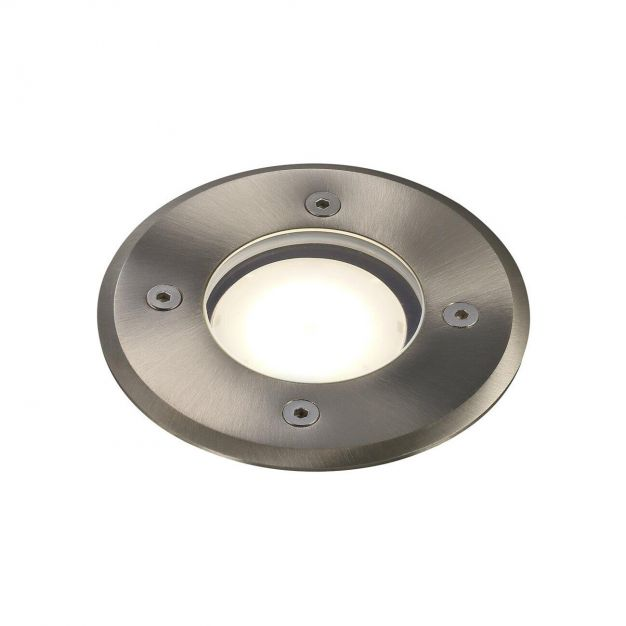 Nordlux Pato Round - grondspot voor buiten - Ø 110 mm, Ø 90 mm inbouwmaat - IP65 - roestvrij staal