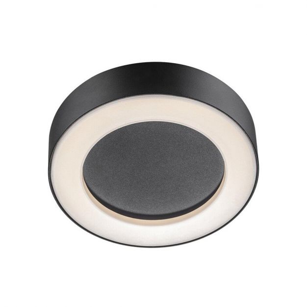 Nordlux Teton - buiten wandverlichting - Ø 20,2 x 4,5 cm - 12W LED incl. - IP54 - zwart
