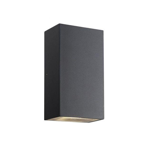 Nordlux Rold Hoek - buiten wandverlichting - 9 x 16 x 5,5 cm - 2 x 5W LED incl. - IP44 - zwart