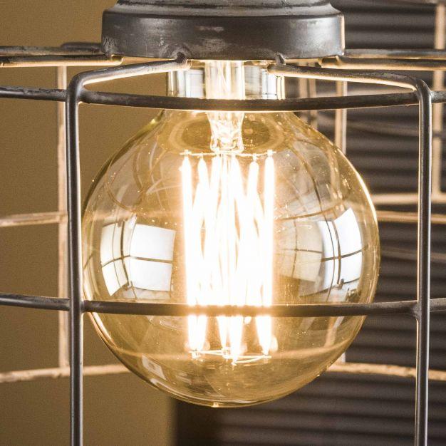 Vico bol filament LED lamp dimbaar - E27 - 6W - 2100K - Amber