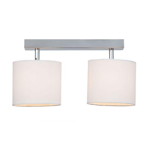 Brilliant Sandra - plafondlamp - 34,5 x 13,5 x 27 cm - wit chroom