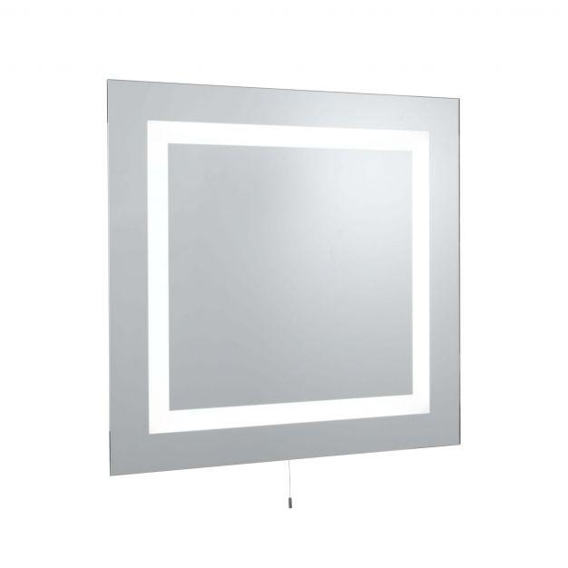 Searchlight Bathroom Mirrors - spiegel met verlichting - 70 x 65 cm - 10W LED incl. - IP44 - wit