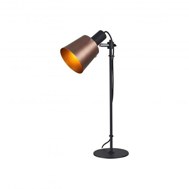 Brilliant Santo - tafellamp - 22,5 x 16 x 51,5 cm - koper en zwart