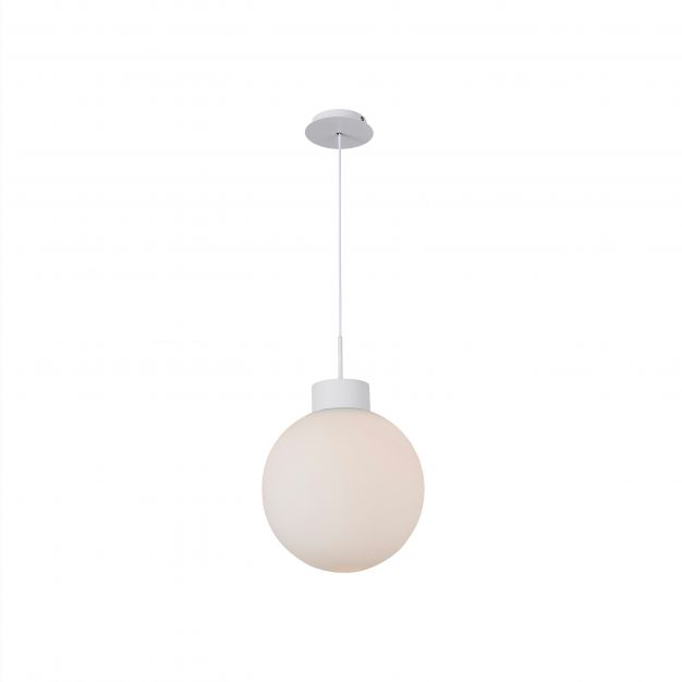 Brilliant Astro - hanglamp - Ø 35 x 120 cm - wit