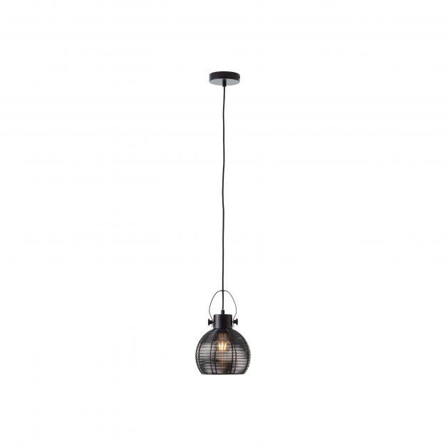 Brilliant Sambo - hanglamp - Ø 20 x 128 cm - zwart