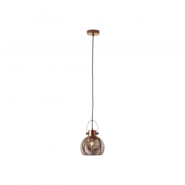 Brilliant Sambo - hanglamp - Ø 20 x 128 cm - bruin