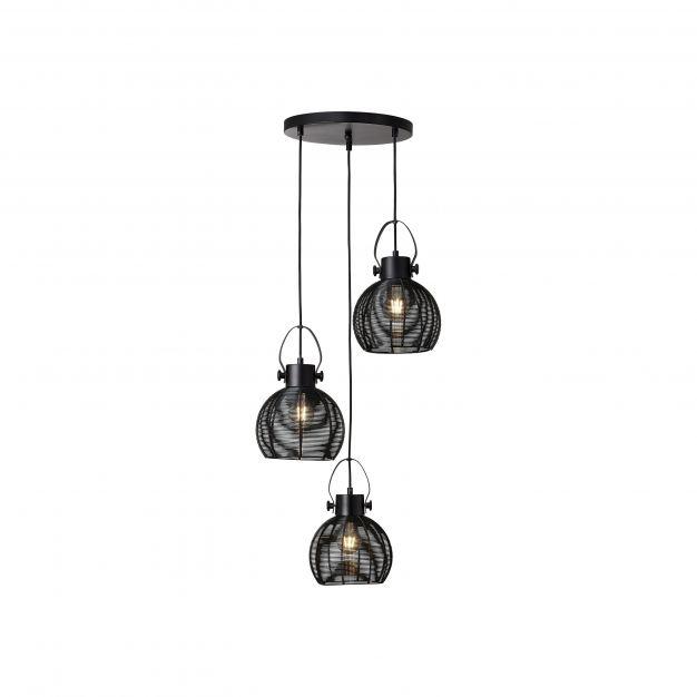 Brilliant Sambo - hanglamp - Ø 45 x 153 cm - zwart