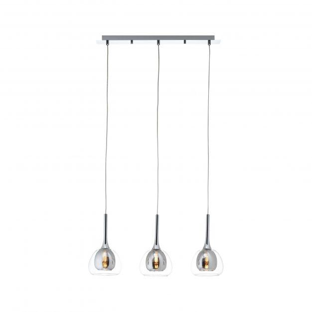 Brilliant Hadan - hanglamp - 66 x 16 x 120 cm - chroom
