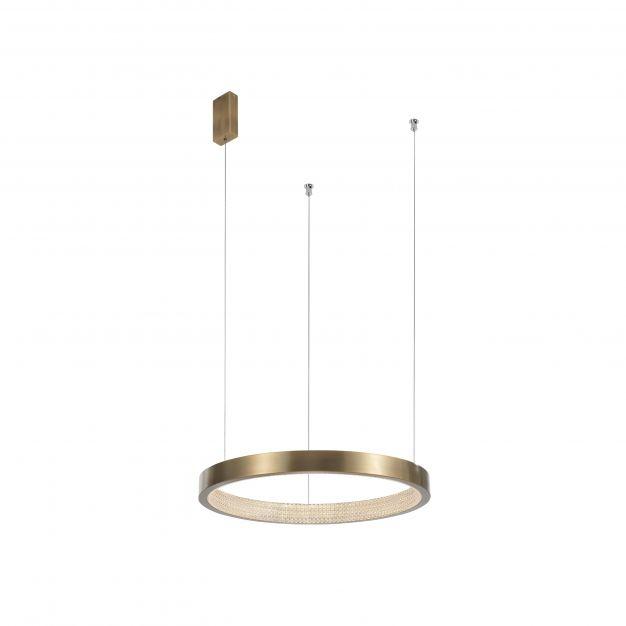 Nova Luce Vegas - hanglamp - Ø 45 x 180 cm - 18W LED incl. - antiek messing
