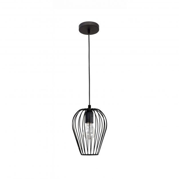Nova Luce Sage - hanglamp - Ø 17 x 140 cm - zwart