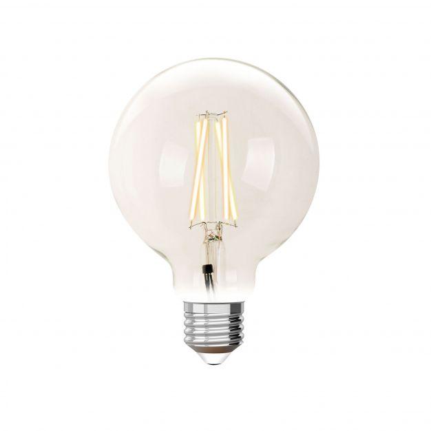 iDual LED-lamp zonder afstandsbediening - Ø 9,5 x 14 cm - E27 - 9W dimbaar - 2200K tot 5500K - transparant