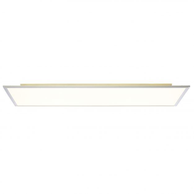Brilliant Flat - plafondverlichting - 120 x 60 x 6 cm - 63W + 33W easydim LED incl. - satijn chroom