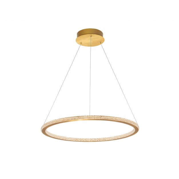 Nova Luce Cilion - hanglamp - Ø 60 x 150 cm - 48W dimbare LED incl. - messing goud
