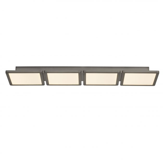 Brilliant Scope - plafondverlichting - 83 x 20 x 5 cm - 4 x 15W easydim LED incl. - satijn chroom / wit