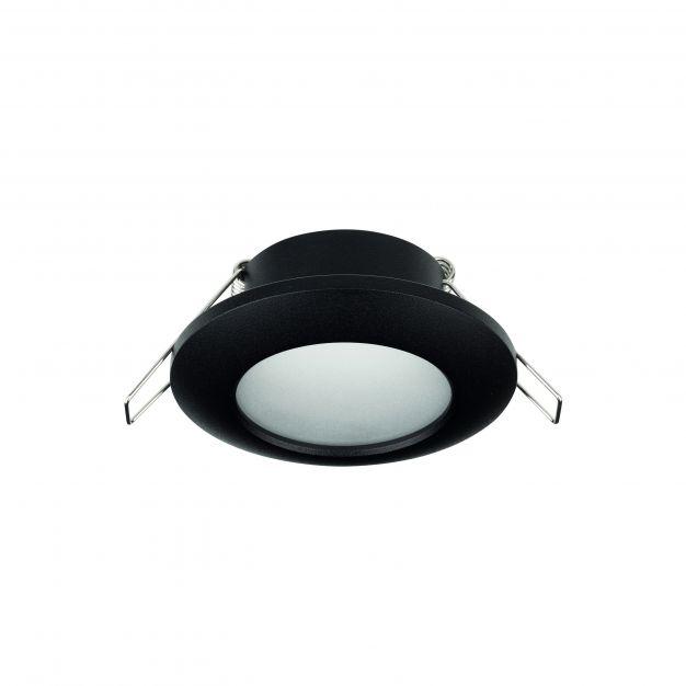 Nova Luce Tex - inbouwspot - Ø 93 mm, Ø 60 mm inbouwmaat - IP44 - zandzwart