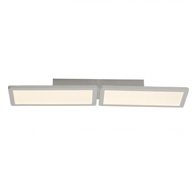 Brilliant Scope - plafondverlichting - 61 x 15 x 5 cm - 2 x 15W easydim LED incl. - mat wit
