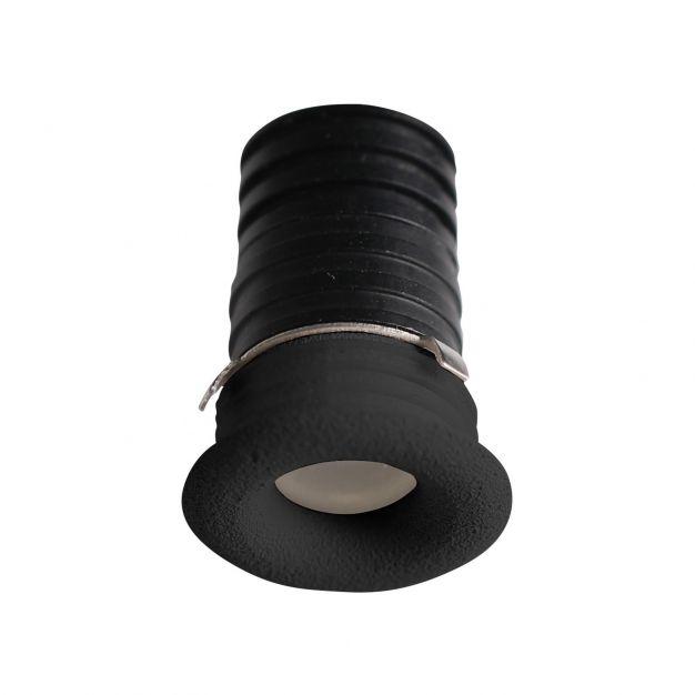 Nova Luce Tiny - inbouwspot - Ø 16 mm, Ø 12 mm inbouwmaat - 1W LED incl. - IP44 - zwart