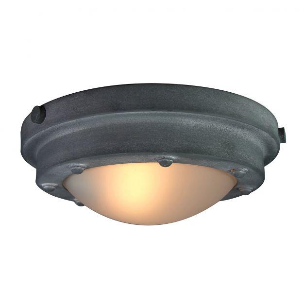 Brilliant Mistral - plafondverlichting - Ø 31 x 15 cm - betongrijs