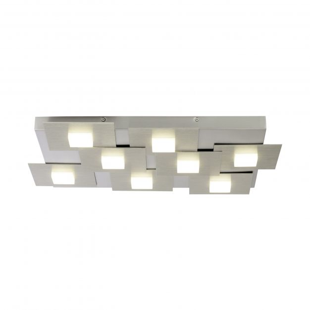Brilliant Numbers - plafondverlichting - 57,8 x 43,8 x 4,7 cm - 3 stappen dimmer - 8 x 4,5W LED incl. - ijzer