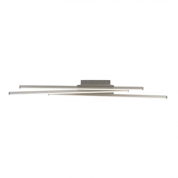 Brilliant Build - plafondverlichting 3L - 89 x 20 x 5 cm - 3 stappen dimbaar - 3 x 8,4W LED incl. - satijn chroom