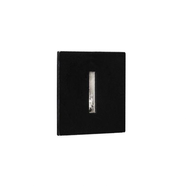 Nova Luce Passaggio - inbouw wandverlichting - 37 x 37 mm, Ø 32 mm inbouwmaat - 1W LED incl. - IP54 - zwart