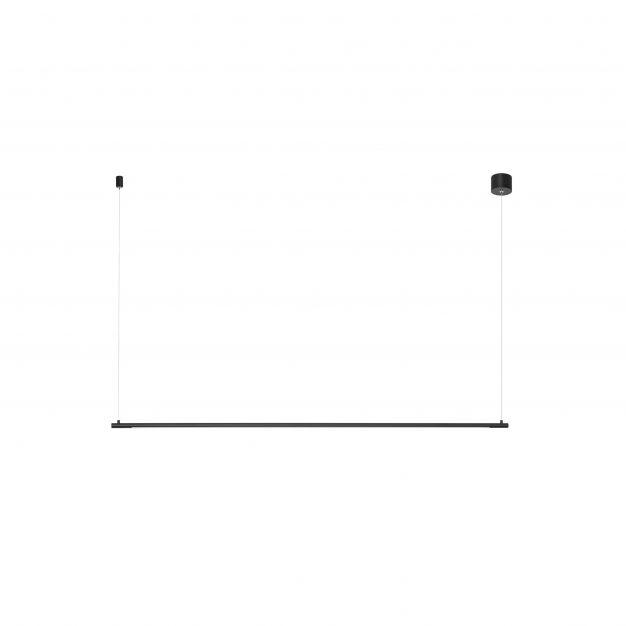 Nova Luce Elettra - hanglamp - 120 x 7 x 150 cm - 20W LED incl. - zand zwart