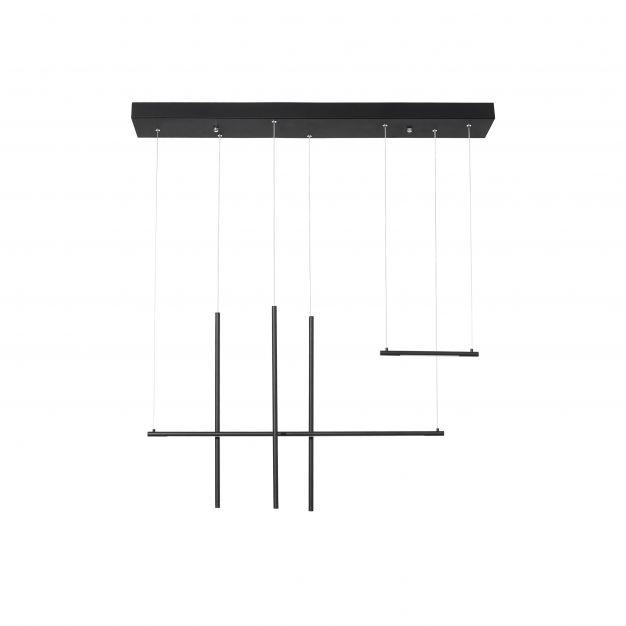 Nova Luce Elettra - hanglamp - 110 x 15 x 200 cm - 35W LED incl. - zand zwart