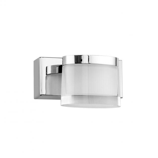 Nova Luce Sabia - spiegellamp - 12 x 9,8 x 7,5 cm - 5W LED incl. - IP44 - chroom