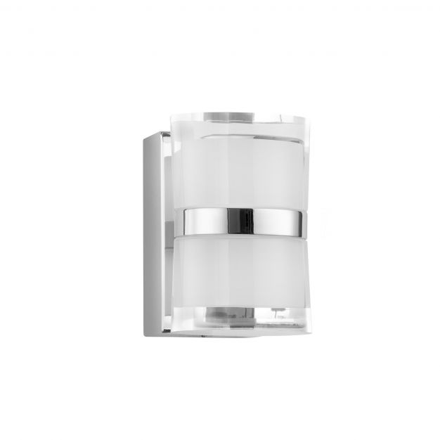 Nova Luce Sabia - spiegellamp - 8,5 x 9,8 x 12,5 cm - 10W LED incl. - IP44 - chroom
