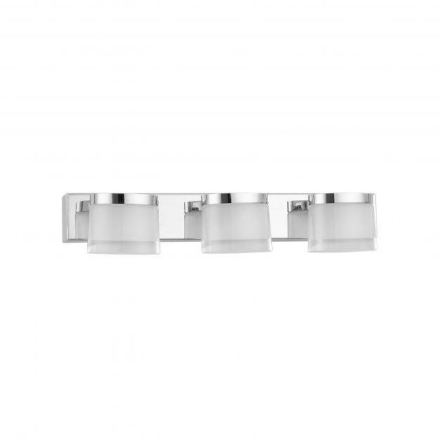 Nova Luce Sabia - spiegellamp - 38 x 9,8 x 7,5 cm - 15W LED incl. - IP44 - chroom