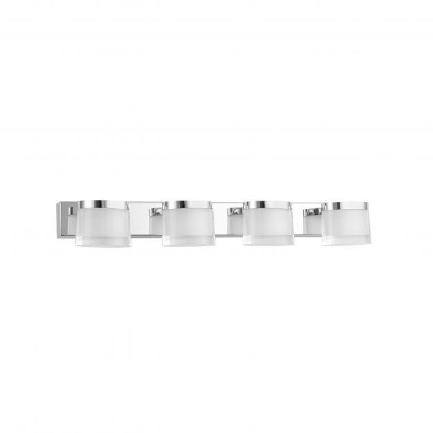 Nova Luce Sabia - spiegellamp - 51 x 9,8 x 7,5 cm - 20W LED incl. - IP44 - chroom