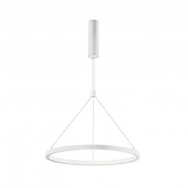 Nova Luce Empatia - hanglamp - Ø 60 x 120 cm - 35W dimbare LED incl. - zandwit