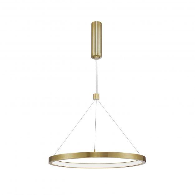 Nova Luce Empatia - hanglamp - Ø 60 x 120 cm - 35W dimbare LED incl. - messing goud